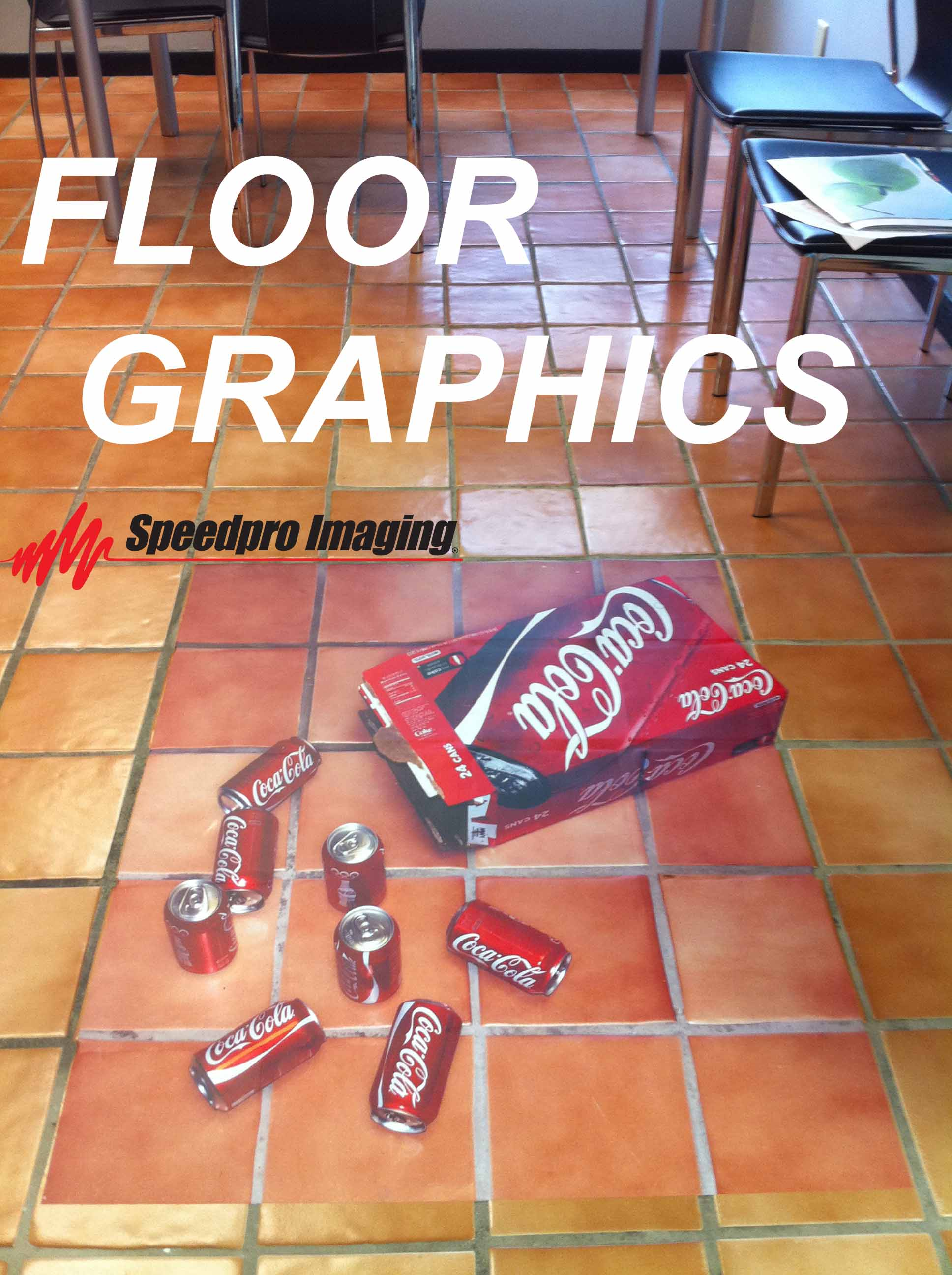 Coca cola floor imagery for Floor stickers